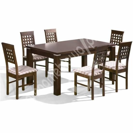 Zestaw Do Jadalni Stół Rozkładany Joshua Krzesła Dinette 16 Zestaw Mebli Do