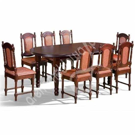 Stylowy Zestaw Do Jadalni Stół Wiliam 8 Krzeseł Zestaw Mebli Do