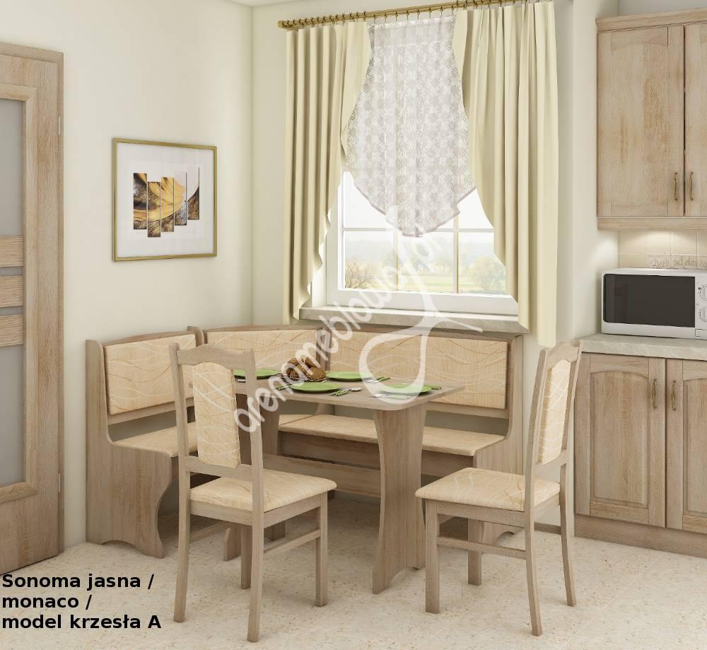 Narożnik kuchenny Pireus (narożnik + stół + krzesła)