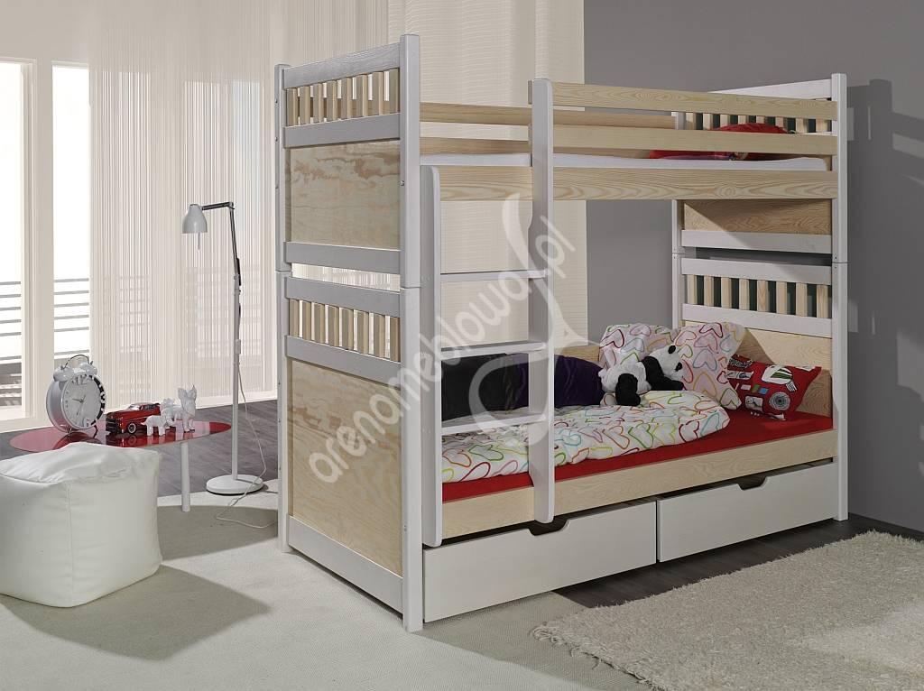 łóżko Piętrowe Krystian łóżka Pojedyncze I Piętrowe Arena Meblowa