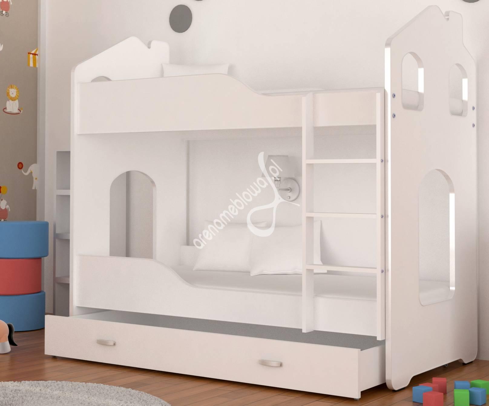 łóżko Piętrowe Domek Daniel 180 Biały