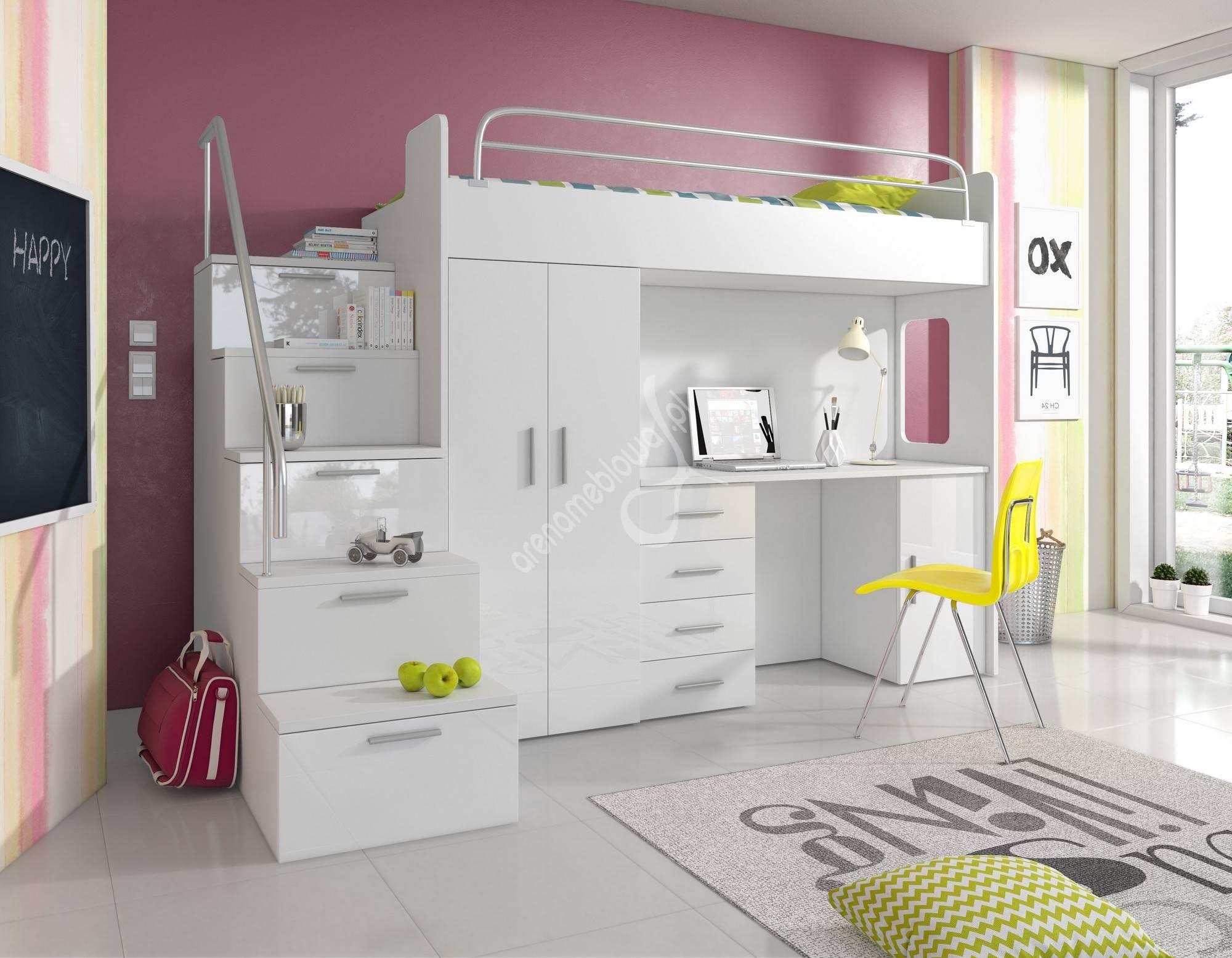 łóżko Piętrowe Colors 4s Materac Antresola łóżka Pojedyncze I Piętrowe A
